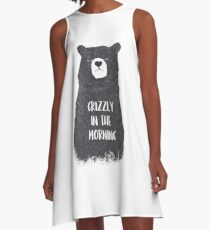 Grizzly in the morning A-Line Dress