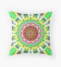 Lime Green Citrus Abstract Throw Pillow