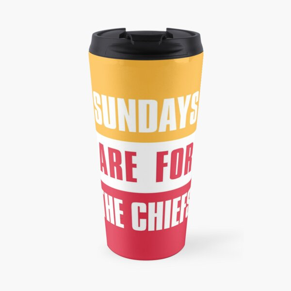 Sundays are for The Chiefs, Kansas City Football  Travel Mug