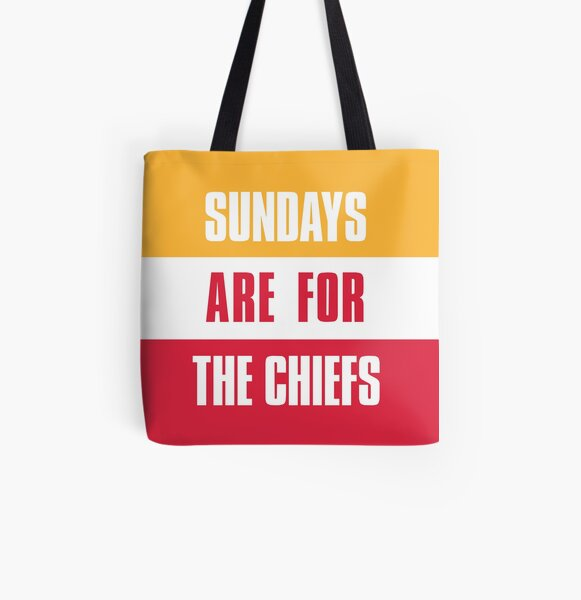Sundays are for The Chiefs, Kansas City Football  All Over Print Tote Bag