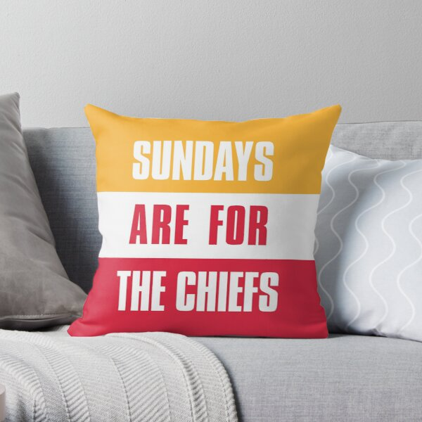 Sundays are for The Chiefs, Kansas City Football  Throw Pillow
