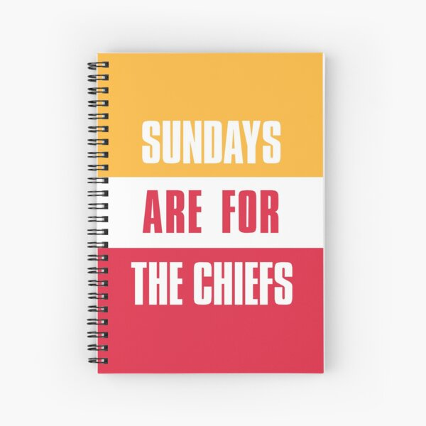 Sundays are for The Chiefs, Kansas City Football  Spiral Notebook
