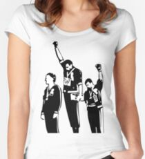 1968 Olympics Black Power Salute Women's Fitted Scoop T-Shirt