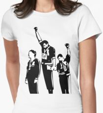 1968 Olympics Black Power Salute Women's Fitted T-Shirt