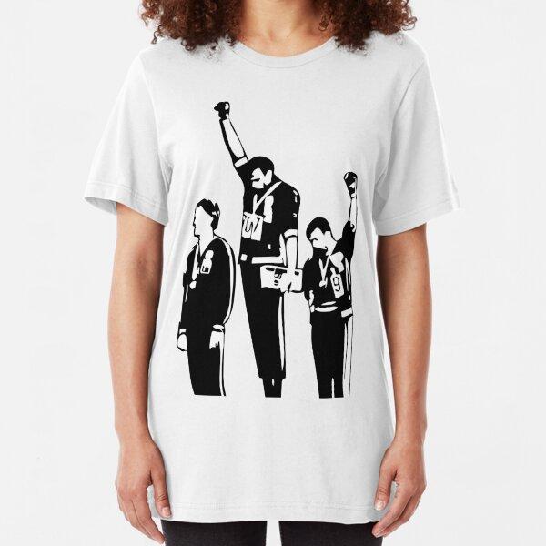 1968 Olympics Black Power Salute Slim Fit T-Shirt