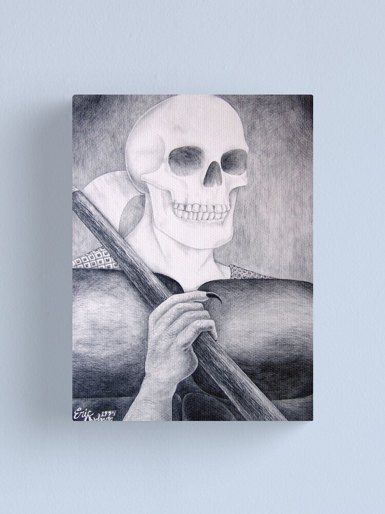 Alternate view of Death's Smile or Grim Reaper Canvas Print