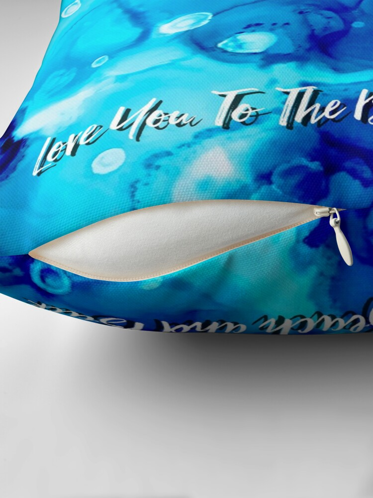 Alternate view of Love You To The Beach and Back Throw Pillow