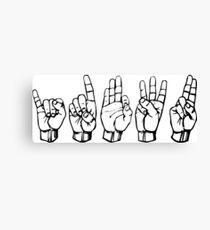 IDFWU Sign Language Canvas Print