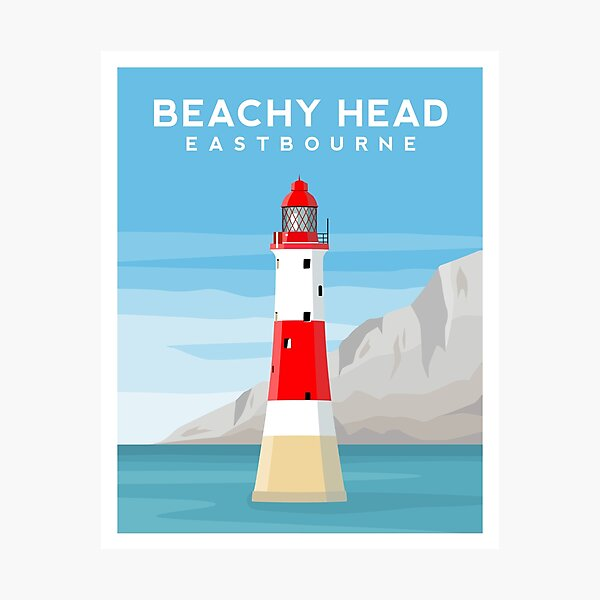 Beachy Head Lighthouse, Eastbourne, East Sussex Photographic Print