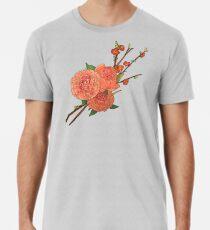 peony and plum flower white Premium T-Shirt