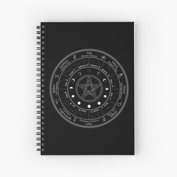 Heidnische Kalenderrad des Jahres Spiralblock