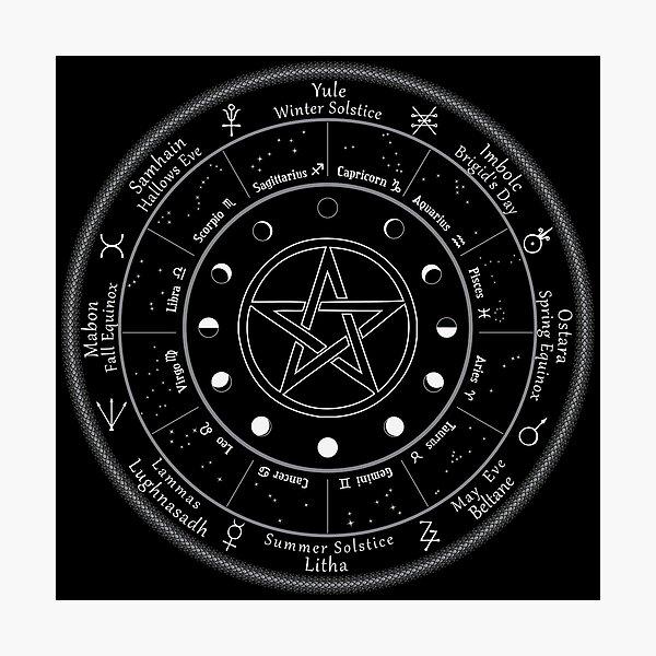 Pagan Calendar Wheel of The Year Photographic Print