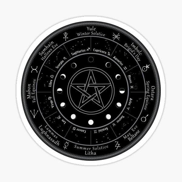 Pagan Calendar Wheel of The Year Sticker