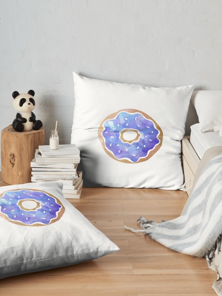 Alternate view of Blue Donut Floor Pillow