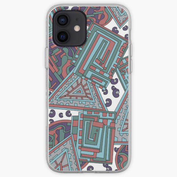 Wandering Abstract Line Art 15: Blue iPhone Soft Case