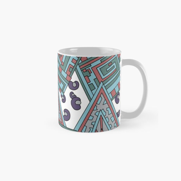 Wandering Abstract Line Art 15: Blue Classic Mug
