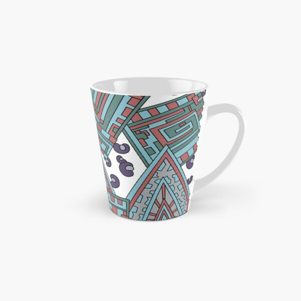 Wandering Abstract Line Art 15: Blue Tall Mug