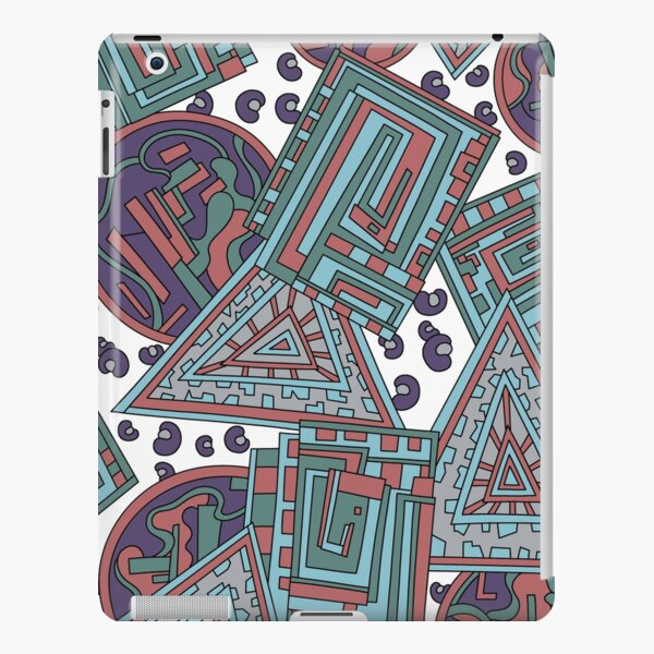Wandering Abstract Line Art 15: Blue iPad Snap Case