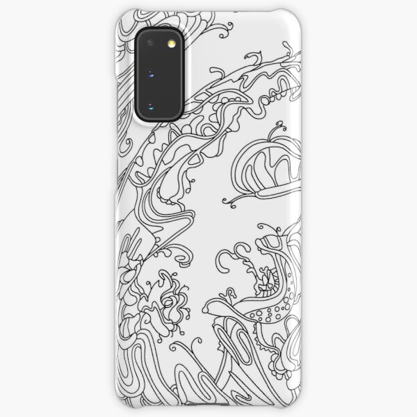 Wandering Abstract Line Art 16: Black & White Samsung Galaxy Snap Case