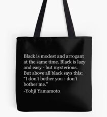 Yohji Quote Tote Bag