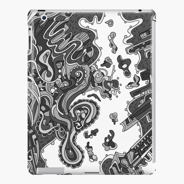 Wandering Abstract Line Art 20: Grayscale iPad Snap Case