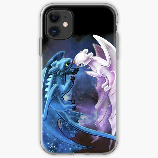 Dragon Heart - Starry Dragons - Toothless and Light Fury iPhone Soft Case