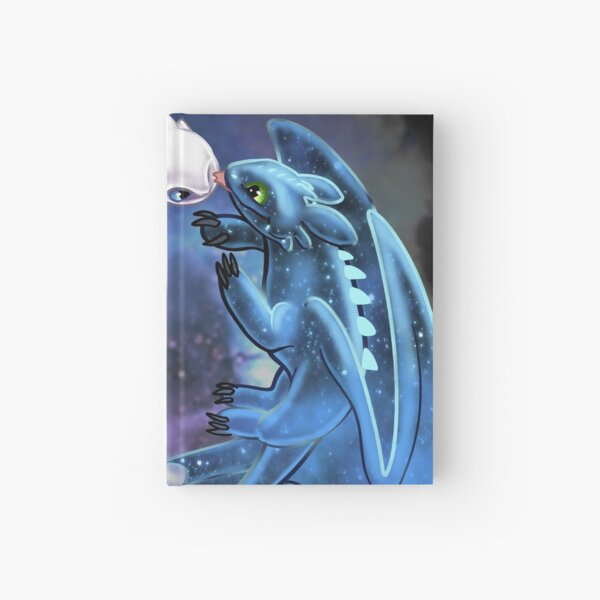 Dragon Heart - Starry Dragons - Toothless and Light Fury Hardcover Journal
