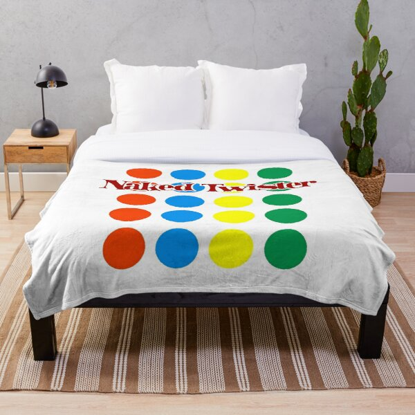 Naked Twister Throw Blanket