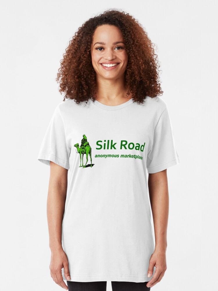 Alternate view of Silk Road Darknet Marketplace v1.0 Slim Fit T-Shirt