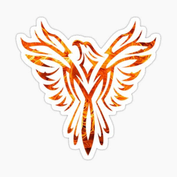 Tribal Fire Phoenix Rising Sticker