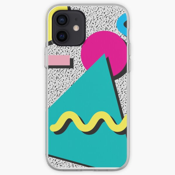 1980s Abstract Pattern iPhone Soft Case