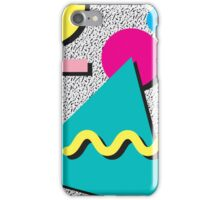 1980s Abstract Pattern iPhone Case/Skin