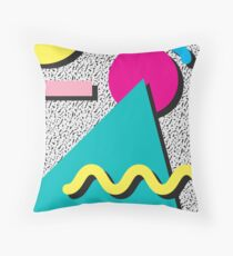 1980s Abstract Pattern Throw Pillow