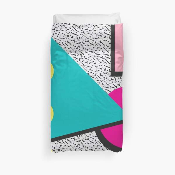 1980s Abstract Pattern Duvet Cover