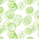 green aquarelle circles pattern by DaphnaDotan