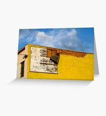 Shady Billboard on Yellow Wall Greeting Card