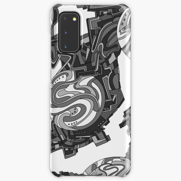 Wandering Abstract Line Art 21: Grayscale Samsung Galaxy Snap Case