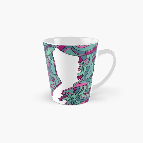 Wandering Abstract Line Art 21: Green Tall Mug