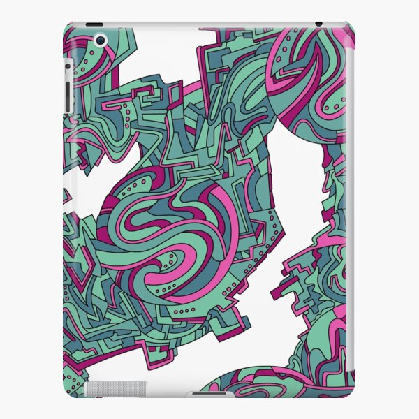 Wandering Abstract Line Art 21: Green iPad Snap Case