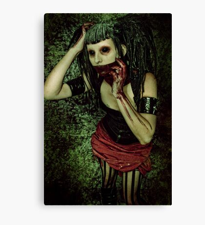 XL: They take apart their nightmares and they leave them by the door. Canvas Print