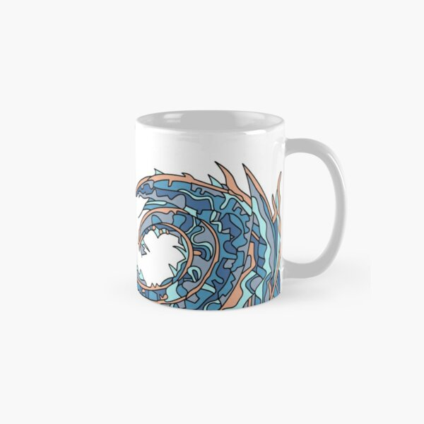 Wandering Abstract Line Art 23: Blue Classic Mug