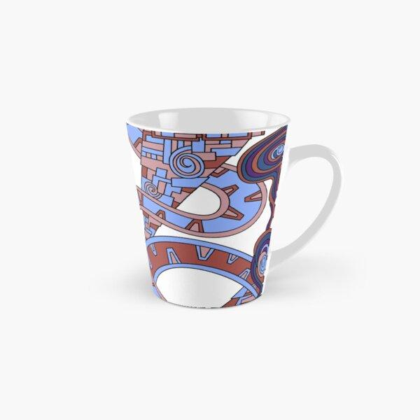 Wandering Abstract Line Art 24: Orange Tall Mug