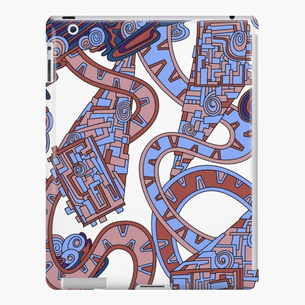 Wandering Abstract Line Art 24: Orange iPad Snap Case