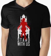 Stand with us Mens V-Neck T-Shirt