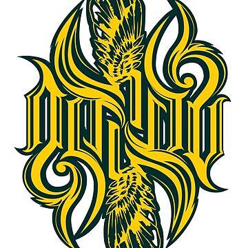 Angel typography ambigram by loneleon