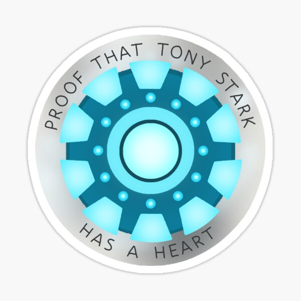 Tony Stark Has A Heart Sticker