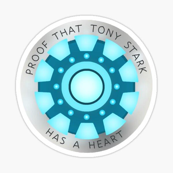 Tony Stark Has A Heart Sticker