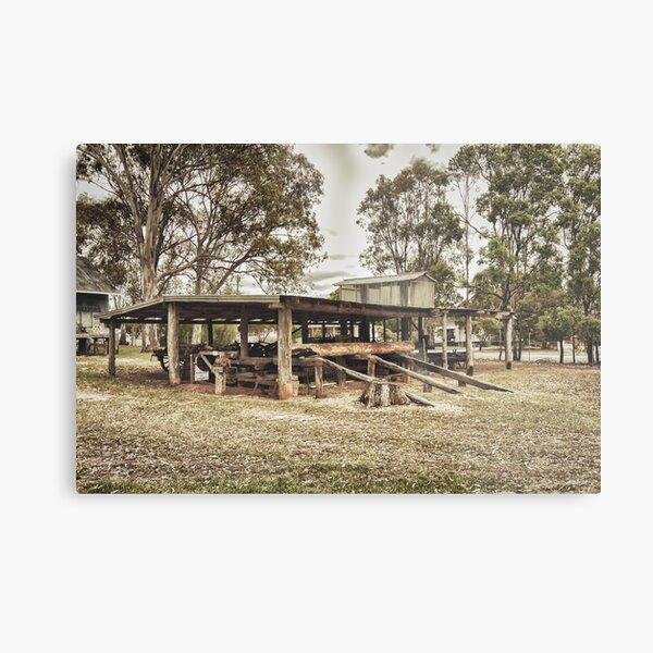 Bullock Wagon Shed Metal Print