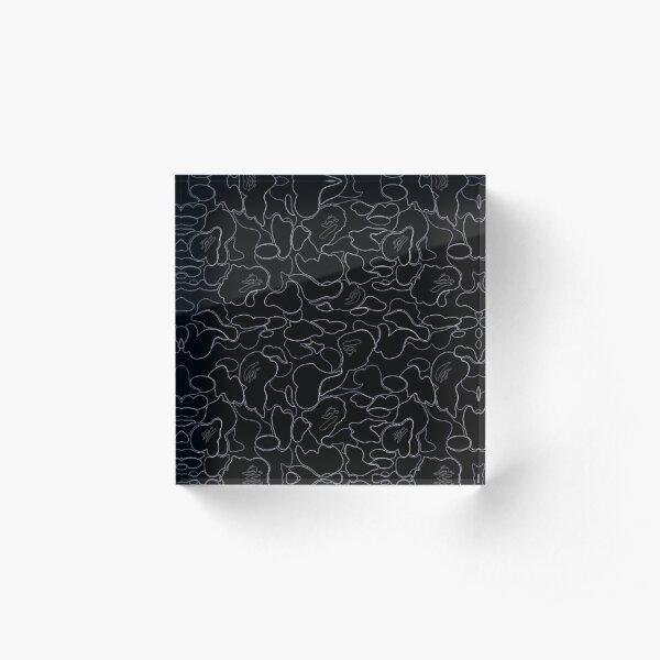 Black Bape Camo Acrylic Block