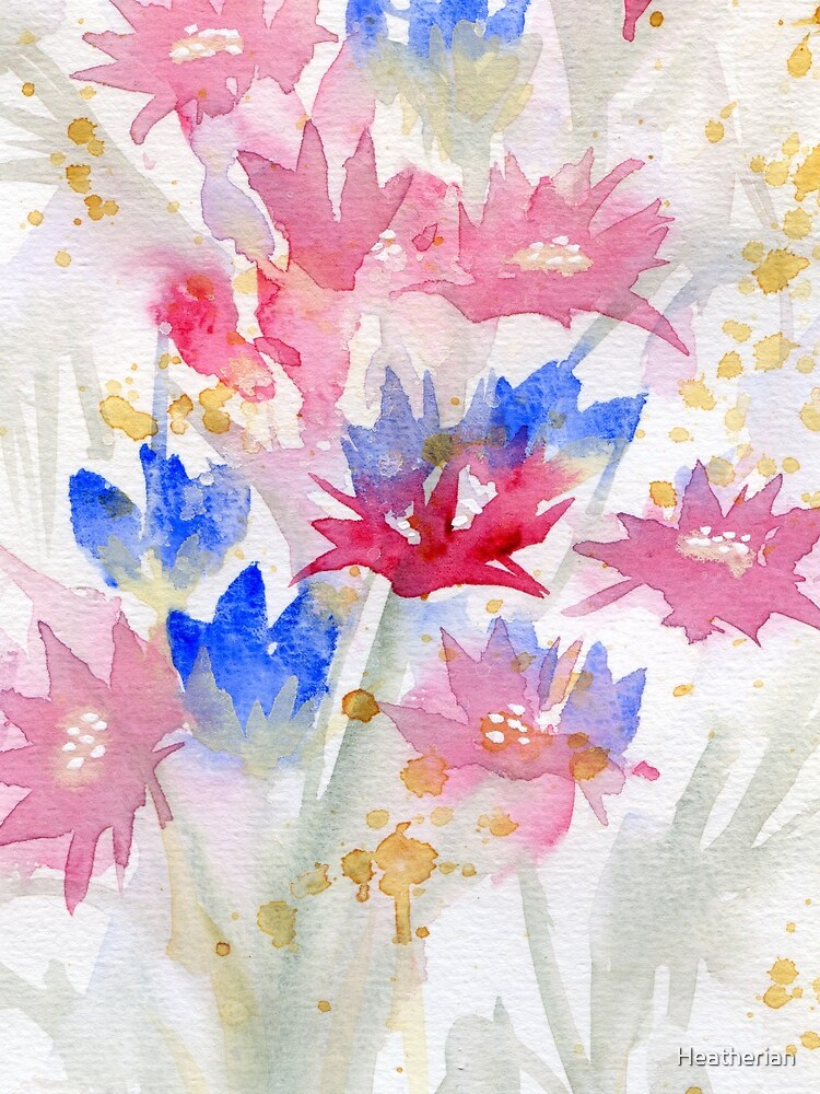 Watercolour Spring Flowers 02 - Limited Palette by Heatherian